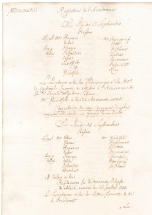 Scan des Originalprotokolls vom 12. September 1748