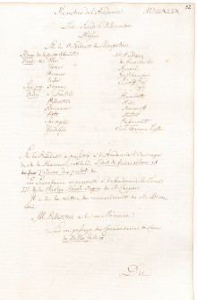 Scan des Originalprotokolls vom 06. November 1749