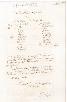 Scan des Originalprotokolls vom 03. September 1750