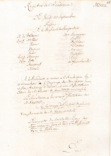 Scan des Originalprotokolls vom 10. September 1750