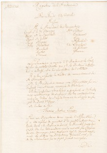Scan des Originalprotokolls vom 22. April 1751