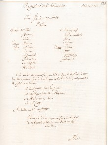 Scan des Originalprotokolls vom 22. August1754
