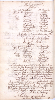 Scan des Originalprotokolls vom 9. April 1767