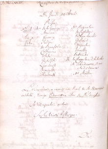 Scan des Originalprotokolls vom 14. April 1774