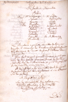 Scan des Originalprotokolls vom 17. November 1774