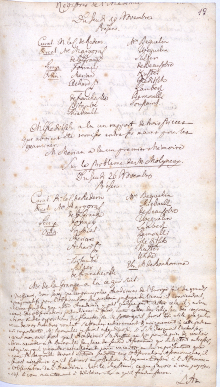 Scan des Originalprotokolls vom 26. November 1767