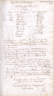 Scan des Originalprotokolls vom 19. November 1778