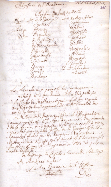 Scan des Originalprotokolls vom 29. April 1779