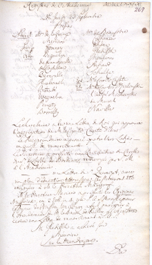 Scan des Originalprotokolls vom 23. September 1779
