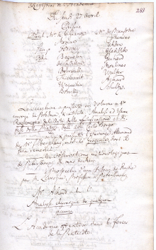 Scan des Originalprotokolls vom 27. April 1780