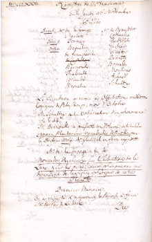 Scan des Originalprotokolls vom 16. November 1780