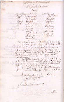 Scan des Originalprotokolls vom 28. April 1768
