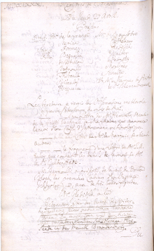 Scan des Originalprotokolls vom 27. April 1781