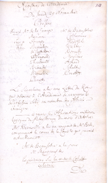 Scan des Originalprotokolls vom 29. November 1781