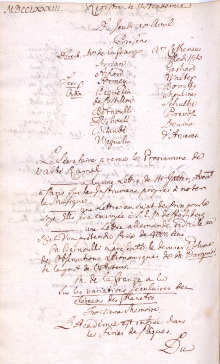 Scan des Originalprotokolls vom 10. April 1783