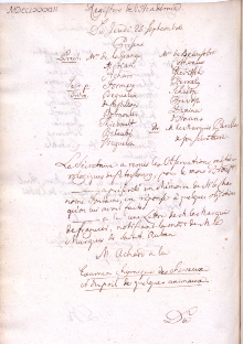 Scan des Originalprotokolls vom 25. September 1783