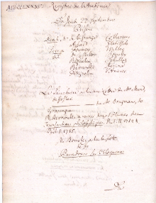 Scan des Originalprotokolls vom 22. September 1785