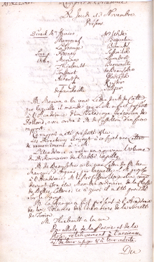 Scan des Originalprotokolls vom 13. November 1766