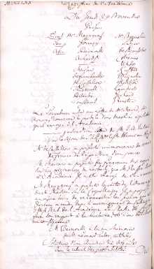 Scan des Originalprotokolls vom 29. November 1770