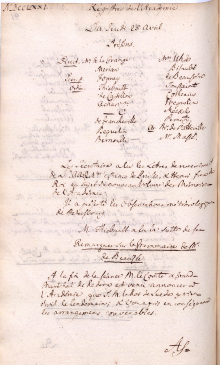 Scan des Originalprotokolls vom 25. April 1771