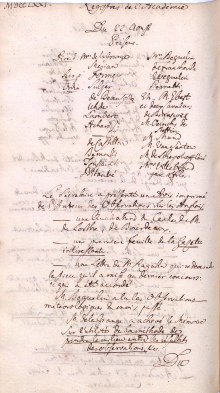Scan des Originalprotokolls vom 22. August 1771