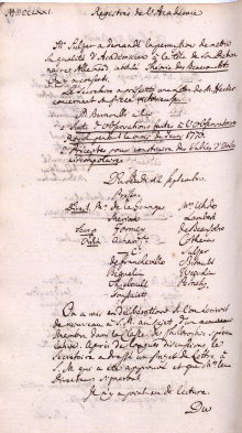 Scan des Originalprotokolls vom 12. September 1771