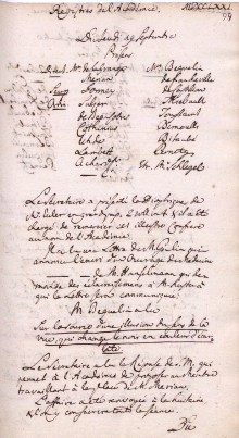 Scan des Originalprotokolls vom 19. September 1771