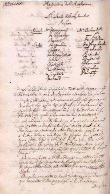 Scan des Originalprotokolls vom 26. September 1771